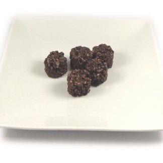 dark chocolate protein bites