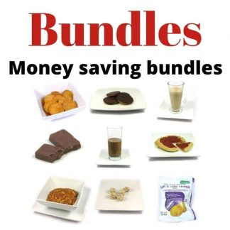 Bundles of our low calorie and low carb products, shakes, meals, snacks